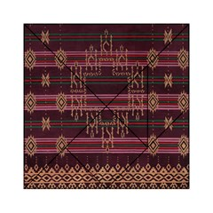 Ulos Suji Traditional Art Pattern Acrylic Tangram Puzzle (6  x 6 )