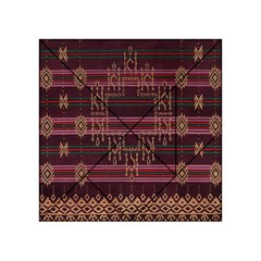 Ulos Suji Traditional Art Pattern Acrylic Tangram Puzzle (4  X 4 )
