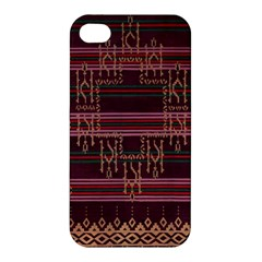 Ulos Suji Traditional Art Pattern Apple iPhone 4/4S Premium Hardshell Case
