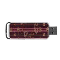Ulos Suji Traditional Art Pattern Portable Usb Flash (two Sides)