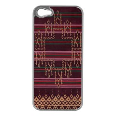 Ulos Suji Traditional Art Pattern Apple Iphone 5 Case (silver)