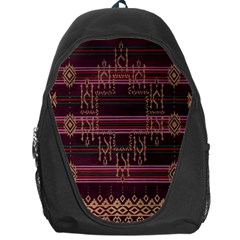 Ulos Suji Traditional Art Pattern Backpack Bag
