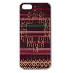 Ulos Suji Traditional Art Pattern Apple Seamless Iphone 5 Case (clear)