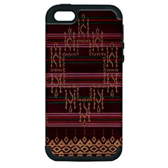 Ulos Suji Traditional Art Pattern Apple iPhone 5 Hardshell Case (PC+Silicone)