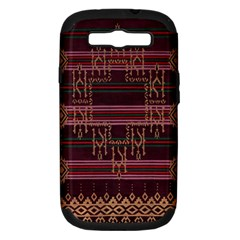 Ulos Suji Traditional Art Pattern Samsung Galaxy S Iii Hardshell Case (pc+silicone)