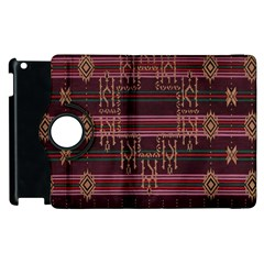 Ulos Suji Traditional Art Pattern Apple iPad 3/4 Flip 360 Case