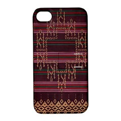 Ulos Suji Traditional Art Pattern Apple Iphone 4/4s Hardshell Case With Stand