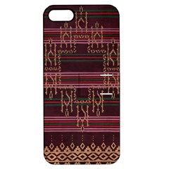 Ulos Suji Traditional Art Pattern Apple Iphone 5 Hardshell Case With Stand