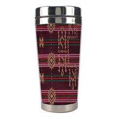 Ulos Suji Traditional Art Pattern Stainless Steel Travel Tumblers