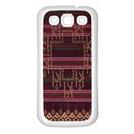 Ulos Suji Traditional Art Pattern Samsung Galaxy S3 Back Case (White) Front