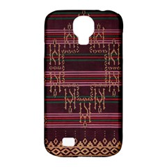 Ulos Suji Traditional Art Pattern Samsung Galaxy S4 Classic Hardshell Case (PC+Silicone)