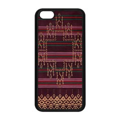 Ulos Suji Traditional Art Pattern Apple Iphone 5c Seamless Case (black)