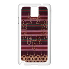Ulos Suji Traditional Art Pattern Samsung Galaxy Note 3 N9005 Case (white)