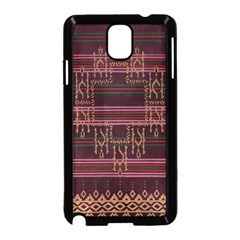 Ulos Suji Traditional Art Pattern Samsung Galaxy Note 3 Neo Hardshell Case (black)
