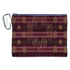 Ulos Suji Traditional Art Pattern Canvas Cosmetic Bag (xxl)