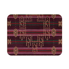 Ulos Suji Traditional Art Pattern Double Sided Flano Blanket (mini)