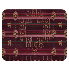 Ulos Suji Traditional Art Pattern Double Sided Flano Blanket (medium)