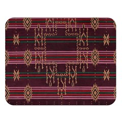 Ulos Suji Traditional Art Pattern Double Sided Flano Blanket (large)