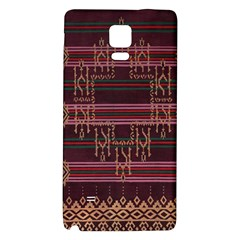 Ulos Suji Traditional Art Pattern Galaxy Note 4 Back Case