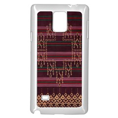 Ulos Suji Traditional Art Pattern Samsung Galaxy Note 4 Case (White)