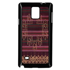 Ulos Suji Traditional Art Pattern Samsung Galaxy Note 4 Case (Black)