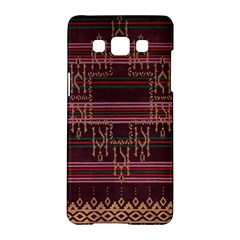 Ulos Suji Traditional Art Pattern Samsung Galaxy A5 Hardshell Case