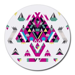 Geometric Play Round Mousepads