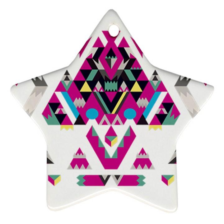 Geometric Play Ornament (Star)
