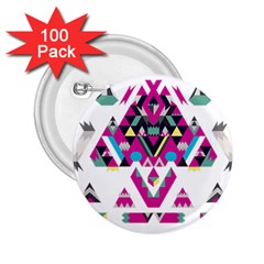 Geometric Play 2 25  Buttons (100 Pack)