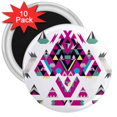 Geometric Play 3  Magnets (10 Pack)