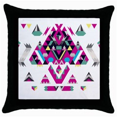 Geometric Play Throw Pillow Case (black)