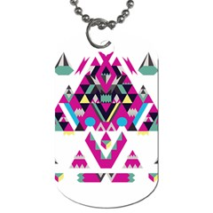 Geometric Play Dog Tag (one Side)