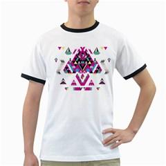 Geometric Play Ringer T Shirts