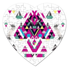 Geometric Play Jigsaw Puzzle (heart)