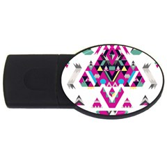 Geometric Play USB Flash Drive Oval (4 GB)