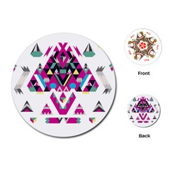 Geometric Play Playing Cards (round)