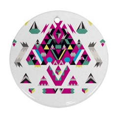 Geometric Play Round Ornament (Two Sides)