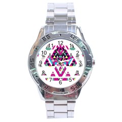 Geometric Play Stainless Steel Analogue Watch