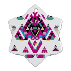 Geometric Play Snowflake Ornament (two Sides)
