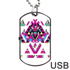 Geometric Play Dog Tag Usb Flash (one Side)