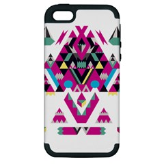 Geometric Play Apple Iphone 5 Hardshell Case (pc+silicone)