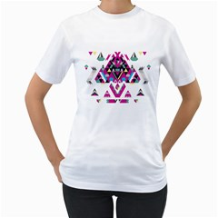 Geometric Play Women s T-Shirt (White)