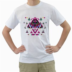 Geometric Play Men s T Shirt (white)