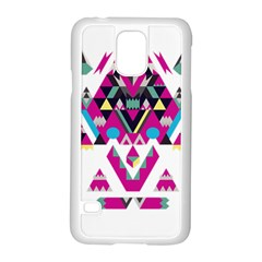 Geometric Play Samsung Galaxy S5 Case (white)