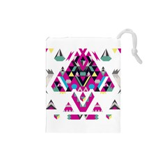 Geometric Play Drawstring Pouches (small)