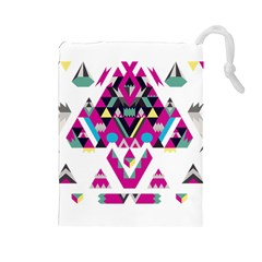 Geometric Play Drawstring Pouches (large)