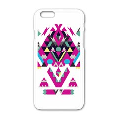 Geometric Play Apple iPhone 6/6S White Enamel Case