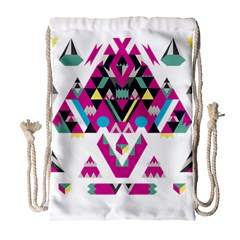 Geometric Play Drawstring Bag (Large)