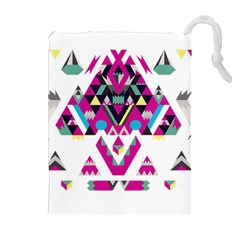 Geometric Play Drawstring Pouches (extra Large)