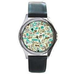 Telegramme Round Metal Watch